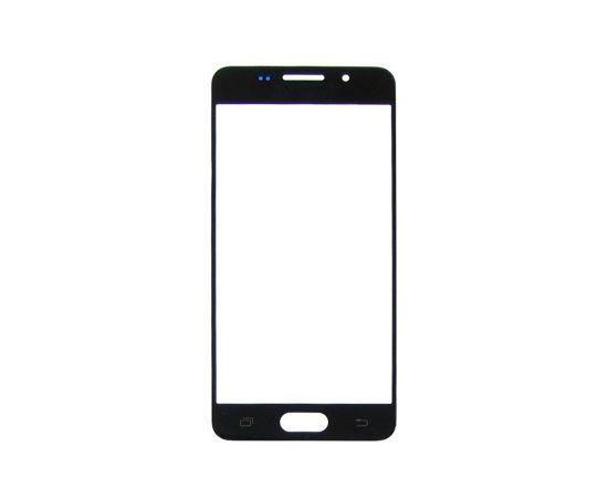 Стекло тачскрина для Samsung A310 Galaxy A3 (2016) чёрное с олеофобным покрытием, закалённое