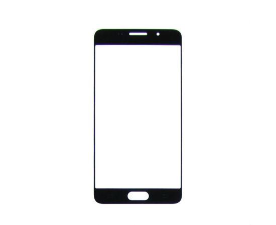 Стекло тачскрина для Samsung A510 Galaxy A5 (2016) чёрное с олеофобным покрытием, закалённое