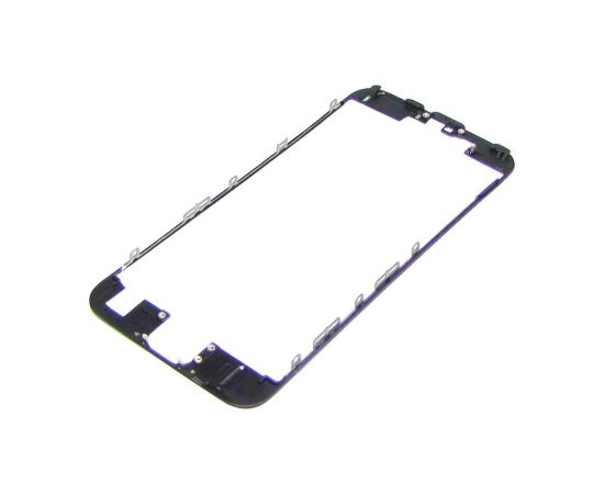 Дисплейная рамка для Apple iPhone 6s чёрная с термоклеем HC