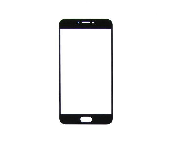 Стекло тачскрина для Meizu MX6 чёрное с олеофобным покрытием, закалённое