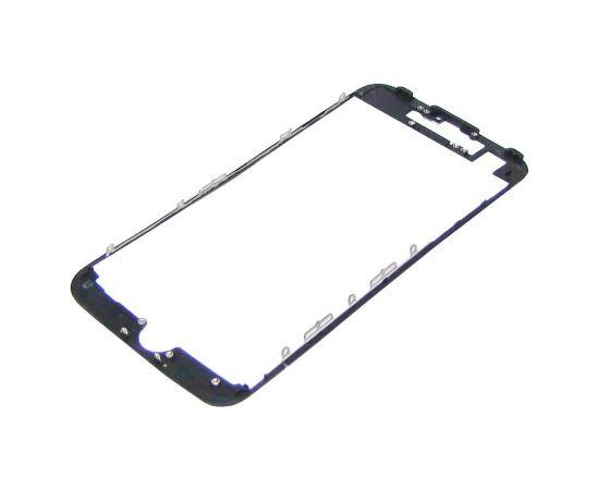 Дисплейная рамка для Apple iPhone 7 чёрная с термоклеем