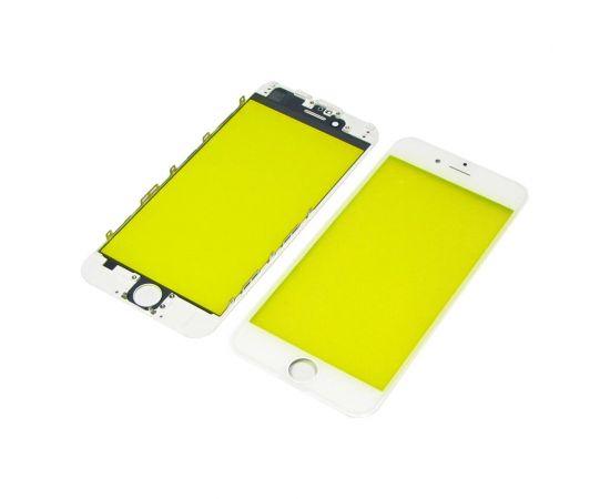 Стекло тачскрина для Apple iPhone 6 белое с рамкой HC