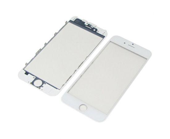 Стекло тачскрина для Apple iPhone 6 белое с рамкой и OCA плёнкой HC