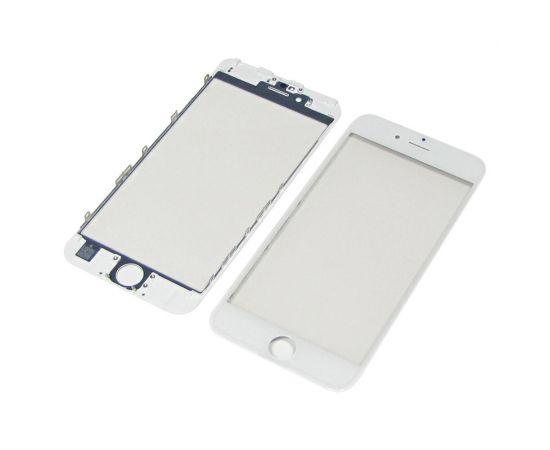 Стекло тачскрина для Apple iPhone 6s белое с рамкой и OCA плёнкой HC
