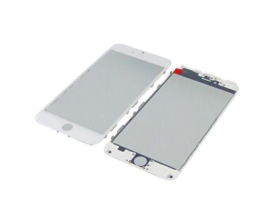 Стекло тачскрина для Apple iPhone 6 Plus белое с рамкой и OCA плёнкой HC