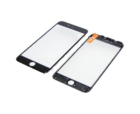 Стекло тачскрина для Apple iPhone 6s Plus чёрное с рамкой и OCA плёнкой HC