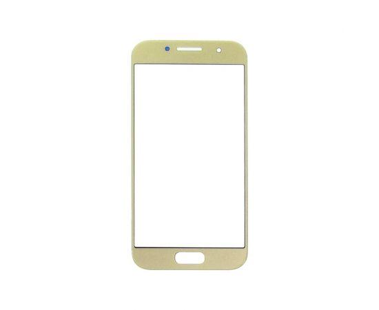 Стекло тачскрина для Samsung A320 Galaxy A3 (2017) золотистое с олеофобным покрытием, закалённое