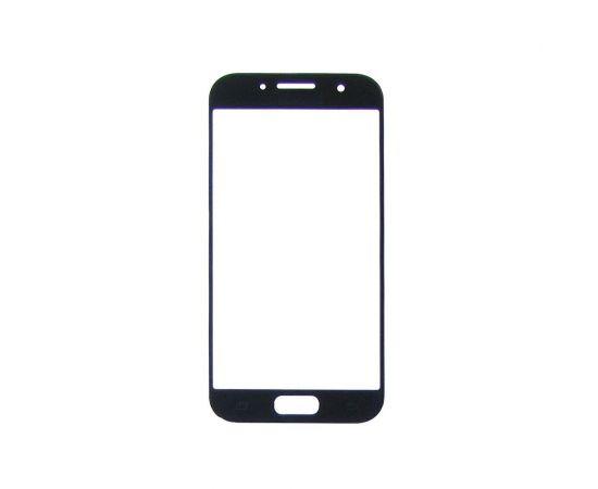 Стекло тачскрина для Samsung A320 Galaxy A3 (2017) чёрное с олеофобным покрытием, закалённое