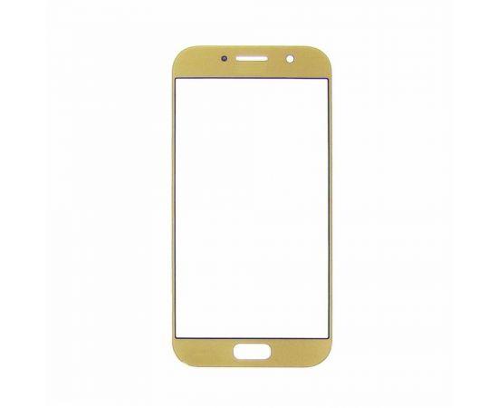 Стекло тачскрина для Samsung A520 Galaxy A5 (2017) золотистое с олеофобным покрытием, закалённое