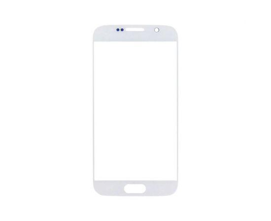 Стекло тачскрина для Samsung G920 Galaxy S6 белое с олеофобным покрытием, закалённое