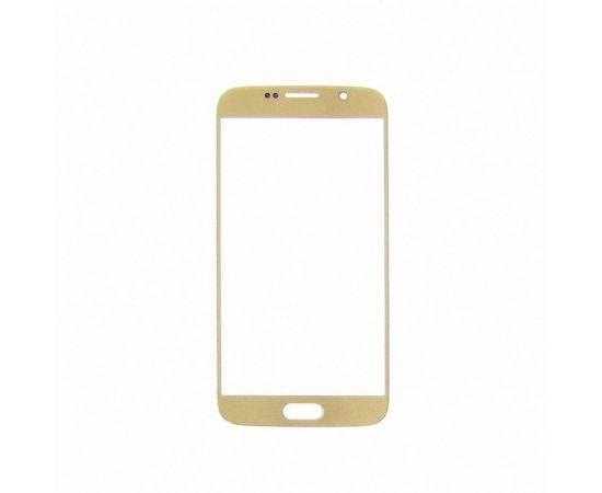 Стекло тачскрина для Samsung G920 Galaxy S6 золотистое с олеофобным покрытием, закалённое