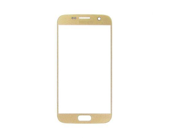 Стекло тачскрина для Samsung G930 Galaxy S7 золотистое с олеофобным покрытием, закалённое