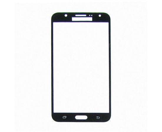 Стекло тачскрина для Samsung J700 Galaxy J7 чёрное с олеофобным покрытием, закалённое