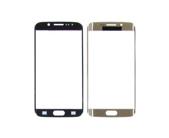 Стекло тачскрина для Samsung G925 Galaxy S6 Edge золотистое с олеофобным покрытием, закалённое HC