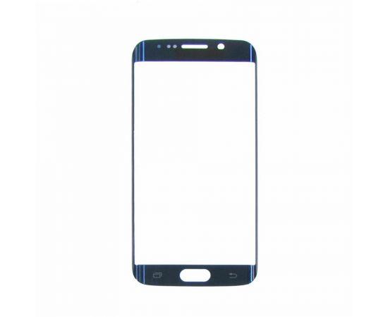 Стекло тачскрина для Samsung G925 Galaxy S6 Edge синее с олеофобным покрытием, закалённое HC