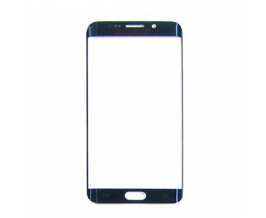 Стекло тачскрина для Samsung G928 Galaxy S6 Edge Plus синее с олеофобным покрытием, закалённое HC