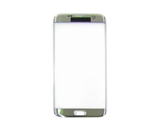 Стекло тачскрина для Samsung G935 Galaxy S7 Edge серебристое с олеофобным покрытием, закалённое HC