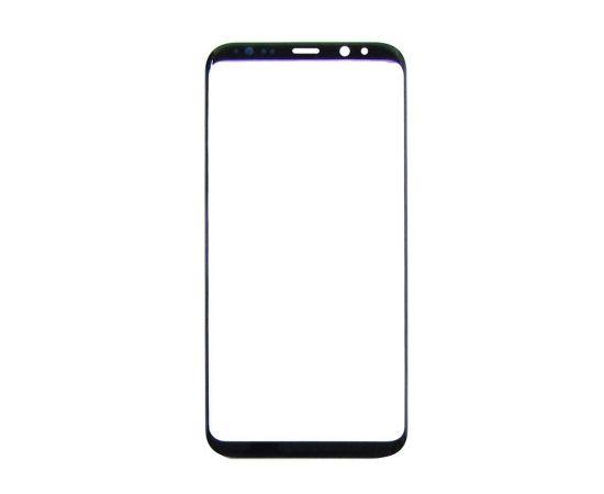 Стекло тачскрина для Samsung G955 Galaxy S8 Plus чёрное с олеофобным покрытием, закалённое HC