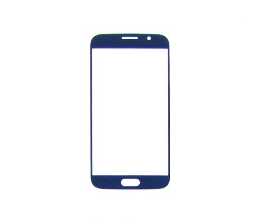 Стекло тачскрина для Samsung G920 Galaxy S6 синее с олеофобным покрытием, закалённое