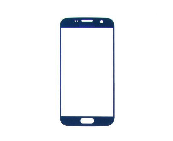 Стекло тачскрина для Samsung G930 Galaxy S7 синее с олеофобным покрытием, закалённое