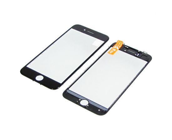 Стекло тачскрина для Apple iPhone 8 чёрное с рамкой и OCA плёнкой HC