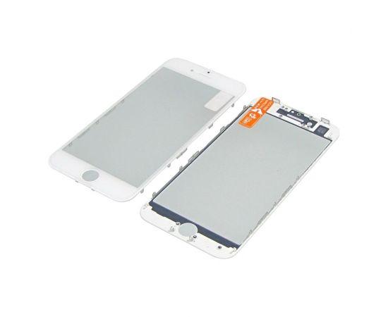 Стекло тачскрина для Apple iPhone 8 белое с рамкой и OCA плёнкой HC