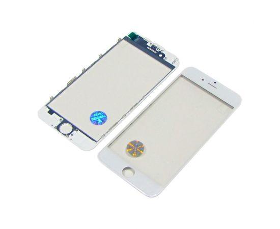 Стекло тачскрина для Apple iPhone 6 белое с рамкой оригинал (TW)