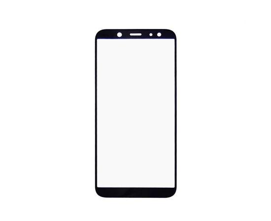 Стекло тачскрина для Samsung A600 Galaxy A6 (2018) чёрное с олеофобным покрытием, закалённое