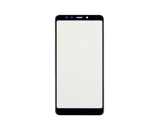 Стекло тачскрина для Xiaomi Redmi 5 чёрное с олеофобным покрытием, закалённое