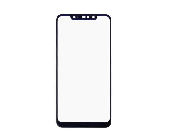 Стекло тачскрина для Xiaomi Redmi Note 6 Pro чёрное с олеофобным покрытием, закалённое