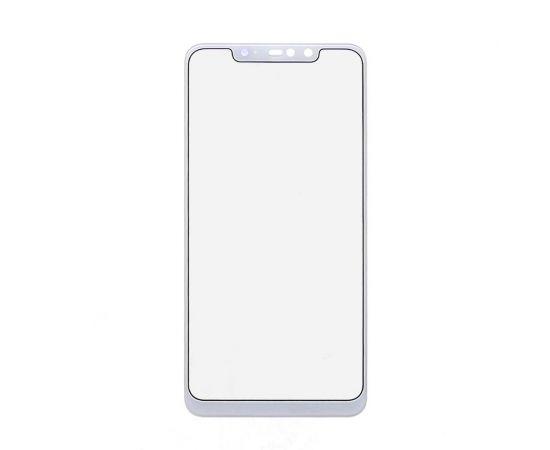 Стекло тачскрина для Xiaomi Redmi Note 6 Pro белое с олеофобным покрытием, закалённое