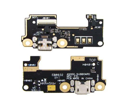 Разъём зарядки для Asus ZenFone 5 (A500CG/ A501CG) на плате с микрофоном и компонентами