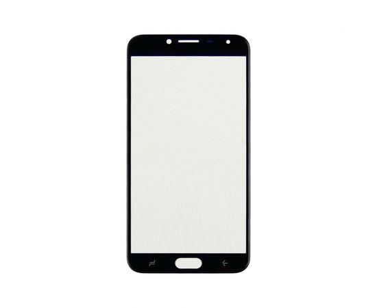 Стекло тачскрина для Samsung J400 Galaxy J4 (2018) чёрное с олеофобным покрытием, закалённое