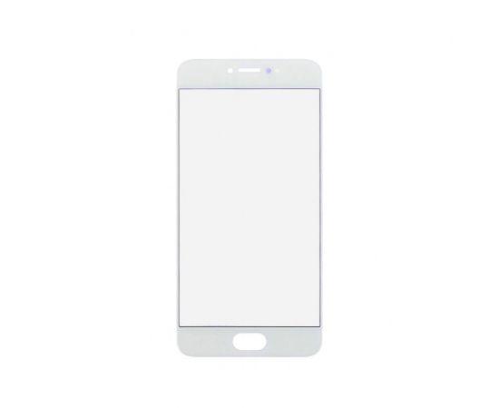 Стекло тачскрина для Meizu Pro 6 белое с олеофобным покрытием, закалённое