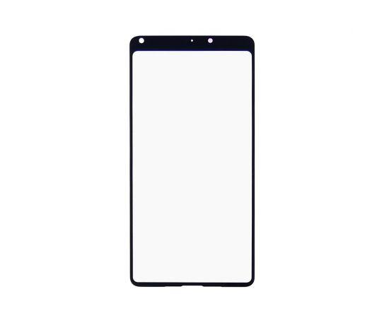 Стекло тачскрина для Xiaomi Mi Mix 2S чёрное с олеофобным покрытием, закалённое