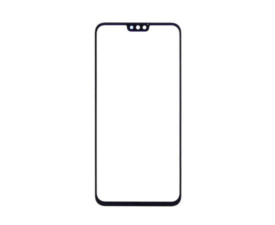 Стекло тачскрина для Huawei Honor 8X (JSN-L21) чёрноe с олеофобным покрытием, закалённое