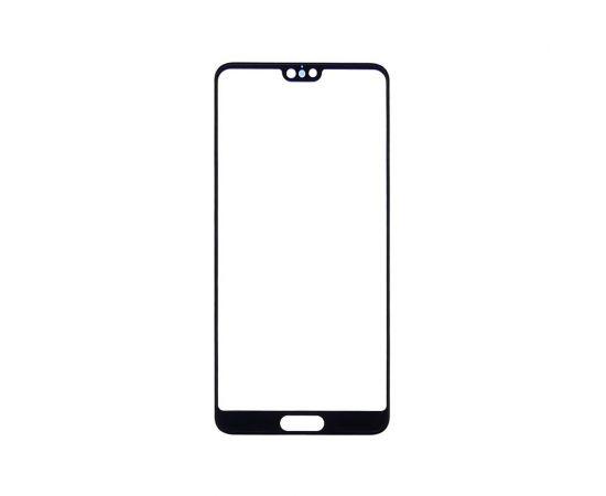 Стекло тачскрина для Huawei P20 чёрное с олеофобным покрытием, закалённое