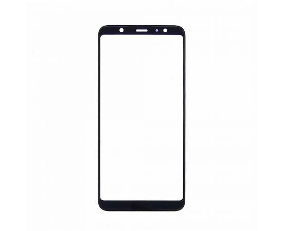 Стекло тачскрина для Samsung J805 Galaxy J8 Plus (2018) чёрное с олеофобным покрытием, закалённое