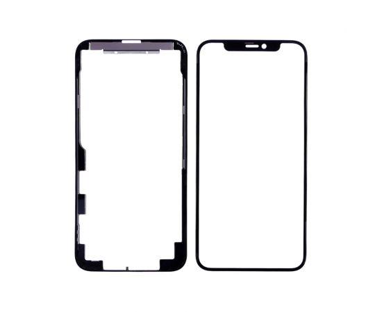 Стекло тачскрина для Apple iPhone 11 Pro чёрное с рамкой и OCA плёнкой HC