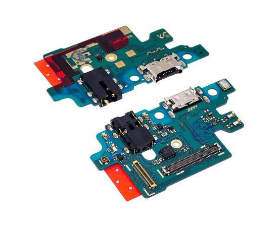 Разъём зарядки для Samsung A405 Galaxy A40 (2019) на плате с микросхемой, микрофоном и компонентами
