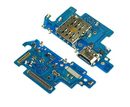 Разъём зарядки для Samsung A805 Galaxy A80 (2019)/ A905 Galaxy A90 (2019) на плате с микросхемой, микрофоном и компонентами