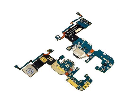 Разъём зарядки для Samsung G955 Galaxy S8 Plus на плате с микрофоном и компонентами