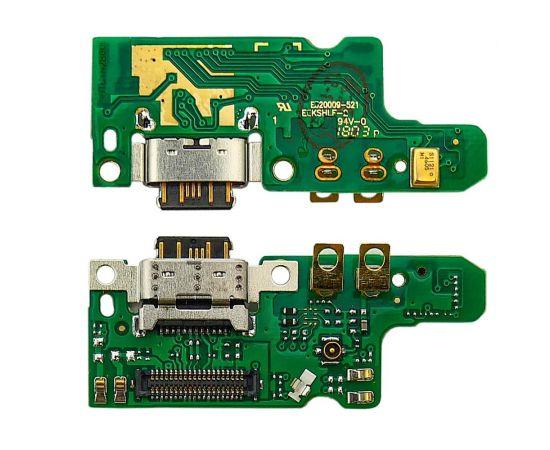 Разъём зарядки для Nokia 7 на плате с микрофоном и компонентами