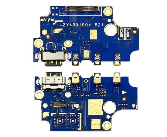 Разъём зарядки для Nokia 8 на плате с микрофоном и компонентами