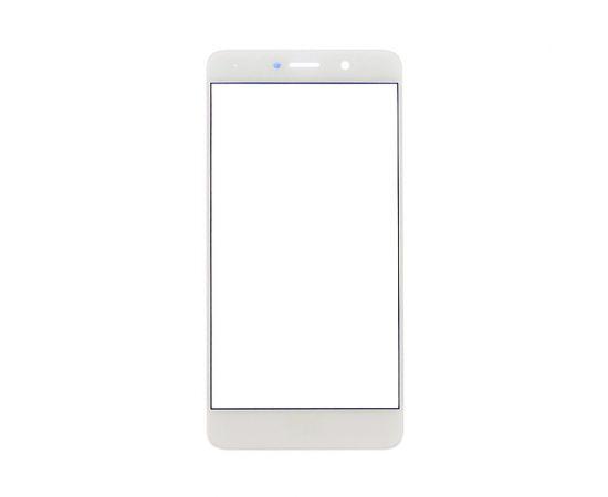 Стекло тачскрина для Huawei Y7 (2017) белое с олеофобным покрытием, закалённое