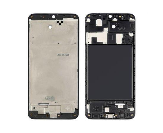 Дисплейная рамка для Samsung A205 Galaxy A20 (2019) чёрная