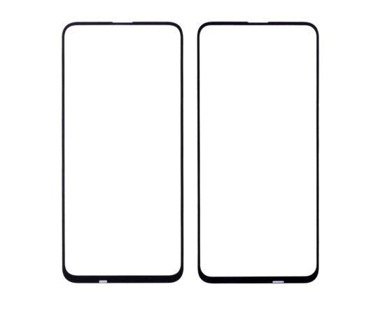 Стекло тачскрина для Huawei Honor 9X чёрное с олеофобным покрытием, закалённое