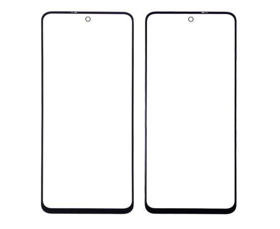 Стекло тачскрина для Xiaomi Redmi Note 9 Pro/ 9 Pro Max/ 9S/ Poco X3 чёрное с олеофобным покрытием, закалённое