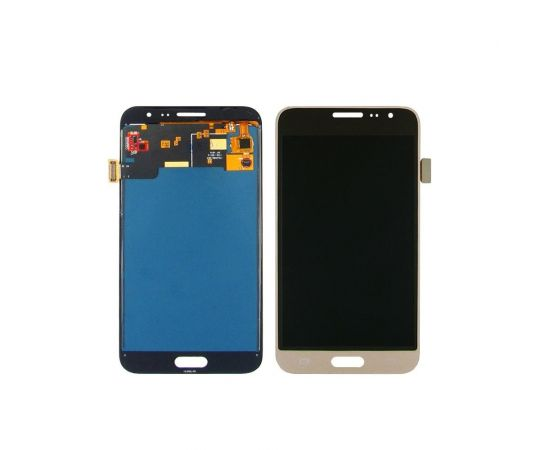 Дисплей для Samsung J320 Galaxy J3 (2016) с чёрно-золотистым тачскрином, с регулируемой подсветкой