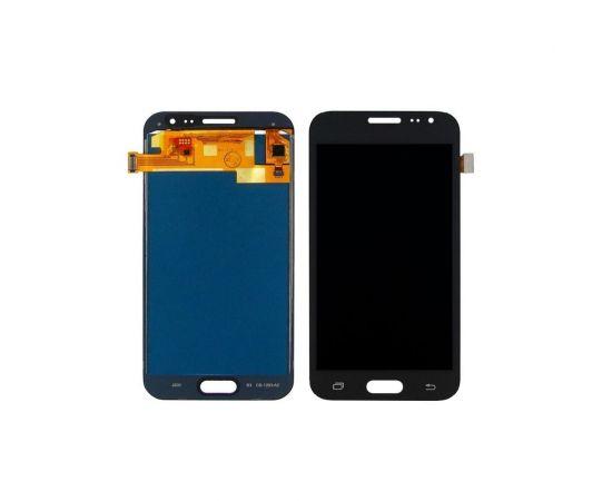 Дисплей для Samsung J200 Galaxy J2 с чёрным тачскрином, с регулируемой подсветкой